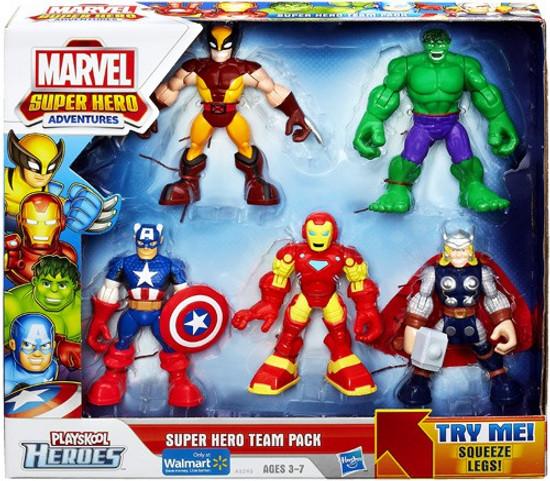 Marvel Playskool Heroes Super Hero Adventures Super Hero Team Pack Exclusive Figure Set