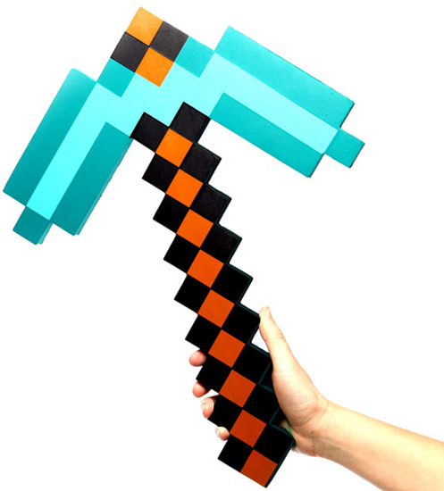 Minecraft Diamond Pickaxe Roleplay Toy [Turquoise]