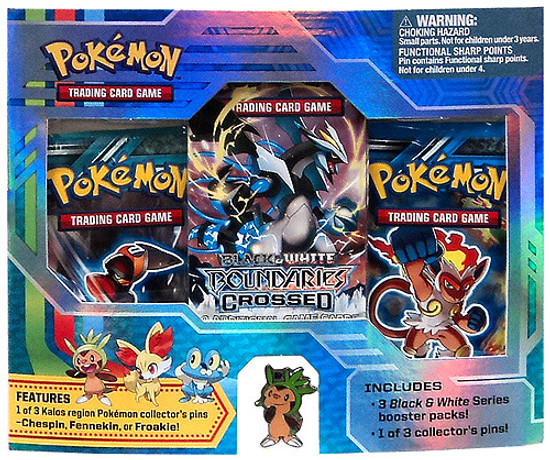 Pokemon Trading Card Game Black & White Chespin Pin Pack [3 Booster Packs & Pin]