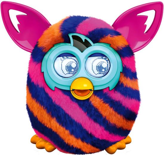Furby Boom! Blue & Orange Diagonal Stripes Figure