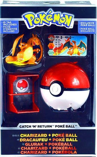 Pokemon Catch n Return Pokeball Charizard & Poke Ball Figure Set