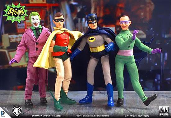 1966 TV Series Classic TV Series 1 Batman Set of 4 Action Figures