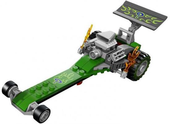 LEGO DC Universe Super Heroes Riddler's Dragster Loose Vehicle [Loose]