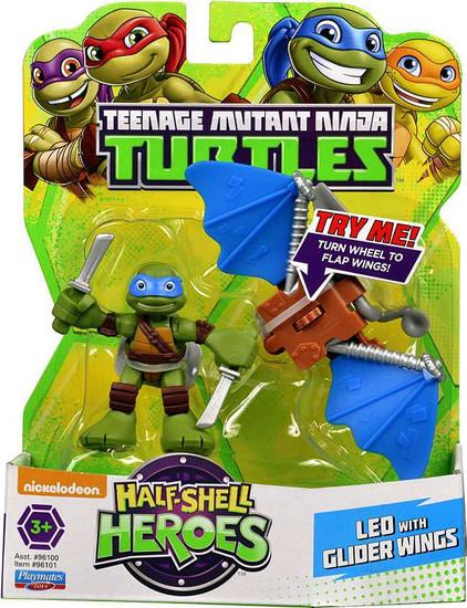 Teenage Mutant Ninja Turtles TMNT Half Shell Heroes Leonardo Action Figure [With Glider Wings]
