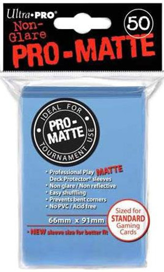 Ultra Pro Card Supplies Non-Glare Pro-Matte Light Blue Standard Card Sleeves [50 Count]