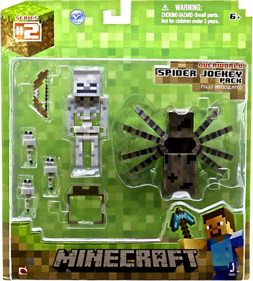 Minecraft Series 2 Spider Jockey Pack Action Figure Set [Overworld]