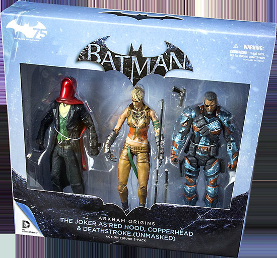 Batman Arkham Origins Action Figure 3-Pack [Deathstroke, Red Hood & Copperhead]
