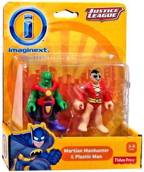 Fisher Price DC Super Friends Imaginext Justice League Martian Manhunter & Plastic Man Exclusive 3-Inch Mini Figures