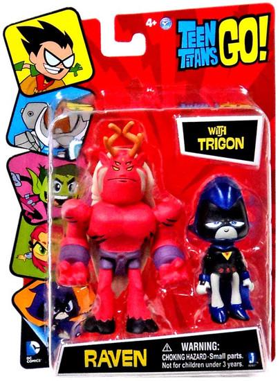 Teen Titans Go! Raven with Trigon 3-Inch Mini Figure 2-Pack