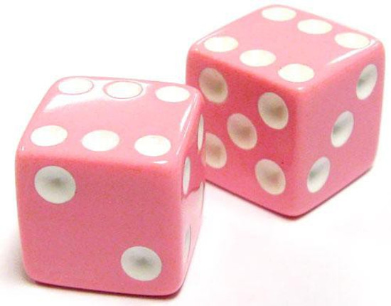 My Little Pony Monopoloy Parts Pair of Pink Dice 1.5-Inch [Loose]