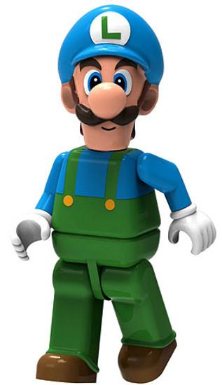 K'NEX Super Mario Ice Luigi 2-Inch Minifigure [Loose]