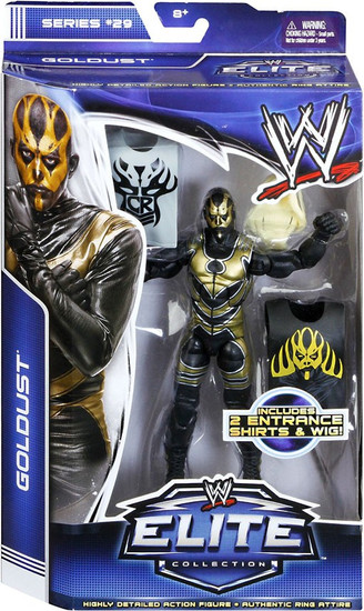 WWE Wrestling Elite Collection Series 29 Goldust Action Figure [2 Entrace Shirts & Wig]