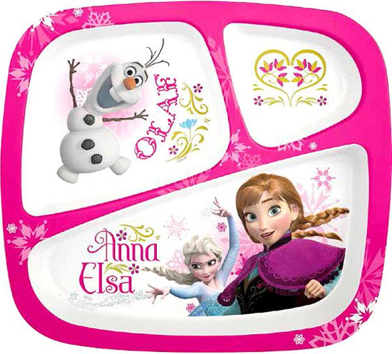 Disney Frozen Anna & Elsa 3-Section Tray