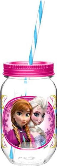 Disney Frozen 19 Oz Anna & Elsa Tritan Canning Jar