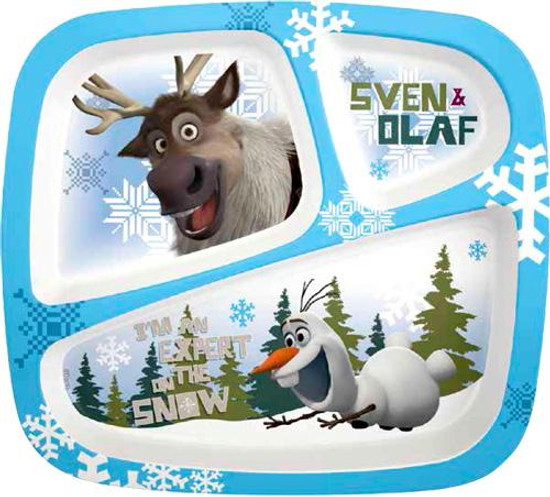 Disney Frozen Olaf & Sven 3-Section Tray