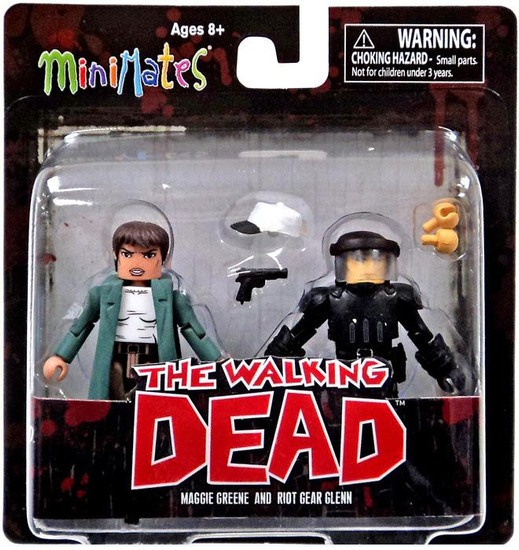 The Walking Dead Minimates Series 5 Maggie Greene & Riot Gear Glenn Minifigure 2-Pack