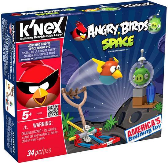 K'NEX Angry Birds Lightning Bird vs. Space Minion Pig Set #72005