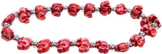 Elephantz Red Elephants Bracelet