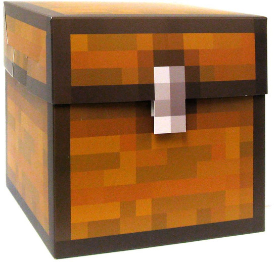 Minecraft Large 2-Piece Storage Block Papercraft [Single Piece]