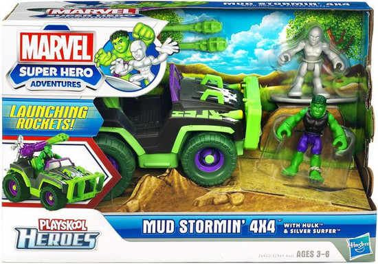 Marvel Playskool Heroes Super Hero Adventures Mud Stormin' 4x4 Mini Figure Set