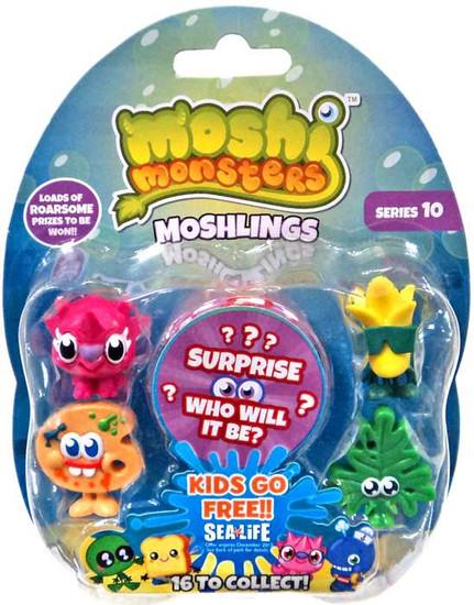 Moshi Monsters Moshlings Series 10 Mini Figure 5-Pack