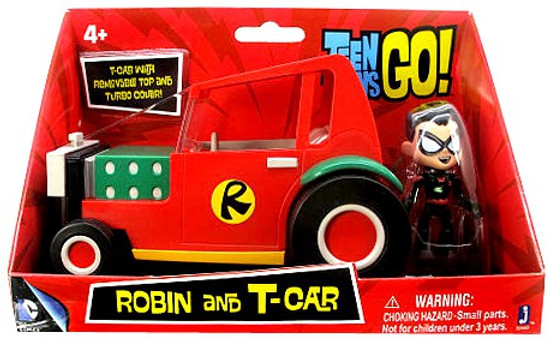 Teen Titans Go! Robin and T-Cart 2.75-Inch Figure & Vehicle