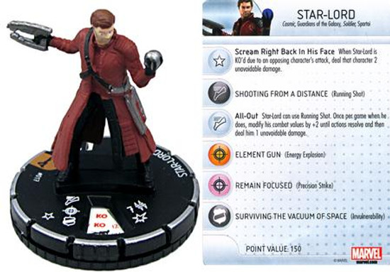 Marvel Guardians of the Galaxy HeroClix Star-Lord #017