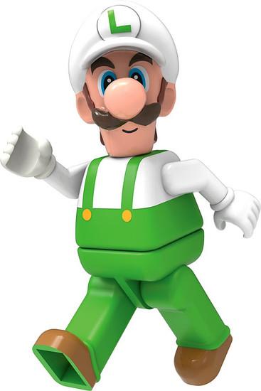 K'NEX Super Mario Luigi 2-Inch Minifigure [Fire Loose]