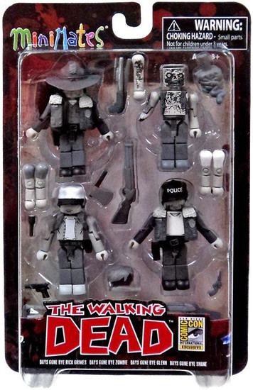 The Walking Dead Comic Minimates Days Gone Bye Exclusive Minifigure 4-Pack