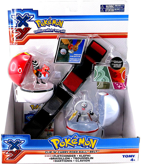 Pokemon XY Fletchinder & Klefki Clip 'n' Carry Poke Ball Belt