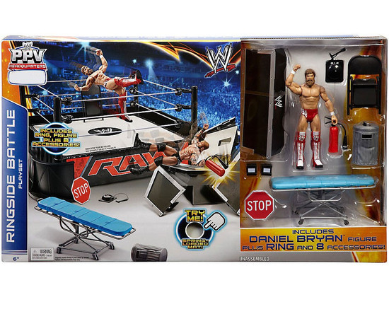 WWE Wrestling PPV Headquarters Ringside Battle Ring Exclusive Playset [Daniel Bryan Action Figure]