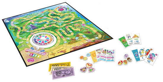 My Little Pony Friendship is Magic Life Board Game Game Board & Accessories [NO FIGURES Loose]