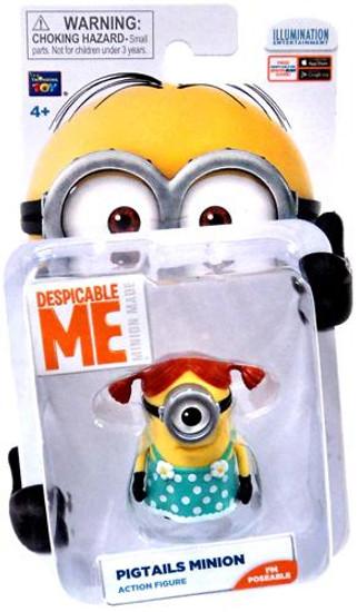 Despicable Me Minion Made Pigtails Minion Action Figure