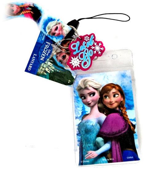 Disney Frozen Anna & Elsa Lanyard Keychain [White]