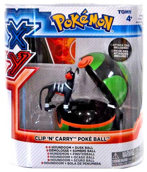 Pokemon Clip n Carry Pokeball Houndoom with Dusk Ball Figure Set