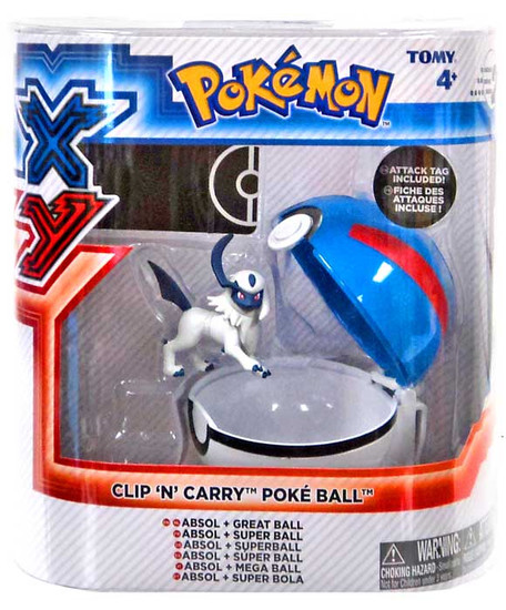 Pokemon Clip n Carry Pokeball Absol with Great Ball Figure Set