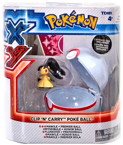 Pokemon Clip n Carry Pokeball Mawile with Premier Ball Figure Set