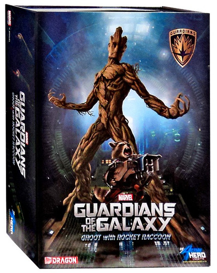 Marvel Guardians of the Galaxy Rocket Raccoon & Groot Model