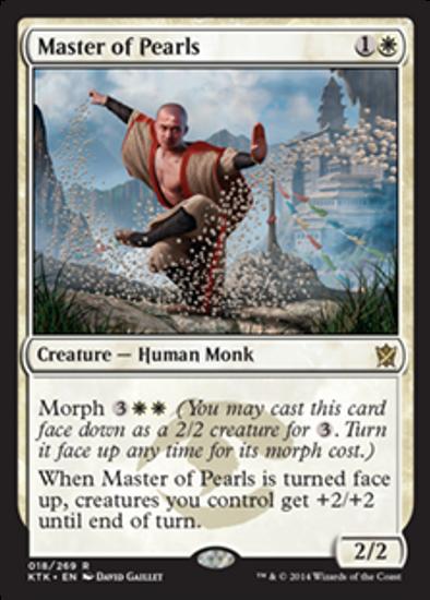 MtG Khans of Tarkir Rare Master of Pearls #18