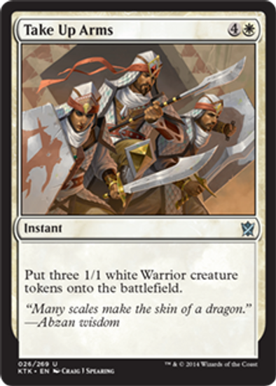 MtG Khans of Tarkir Uncommon Take Up Arms #26