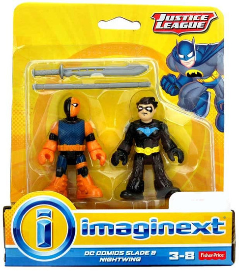 Fisher Price Justice League Imaginext Slade & Nightwing Exclusive 3-Inch Mini Figure Set