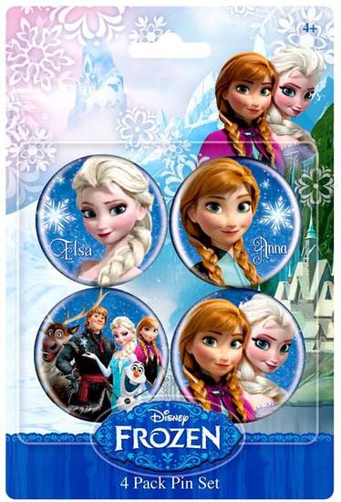 Disney Frozen Anna & Elsa 1.5-Inch Buttons 4-Pack