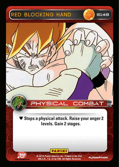 Dragon Ball Z CCG 2014 Starter Set Fixed Red Blocking Hand S148