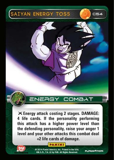 Dragon Ball Z Set 1 Common Saiyan Energy Toss C54