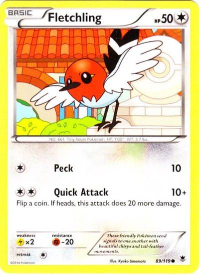 Pokemon X & Y Phantom Forces Common Fletchling #89