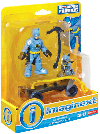 Fisher Price DC Super Friends Imaginext Mountain Batman & Ace 3-Inch Figure Set