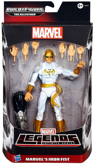 Avengers Marvel Legends Allfather Series Iron Fist Action Figure [White Costume]