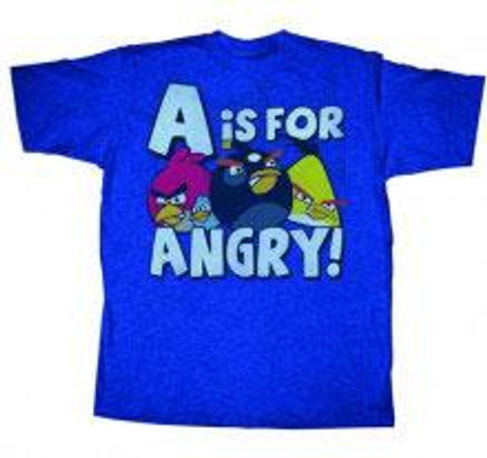 Angry Birds A is For Angry T-Shirt [Adult Medium]