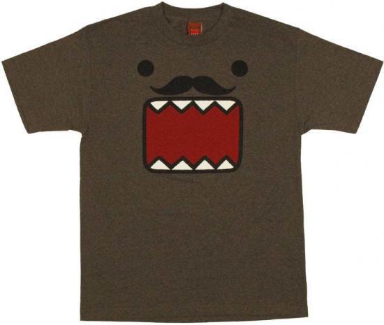 Domo Face Stache T-Shirt [Adult XL]