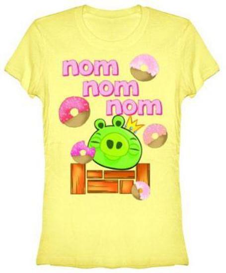 Angry Birds Nom Nom Nom T-Shirt [Women's XL]